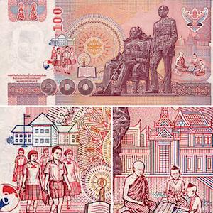 Thai 100-baht banknote thumbnail image