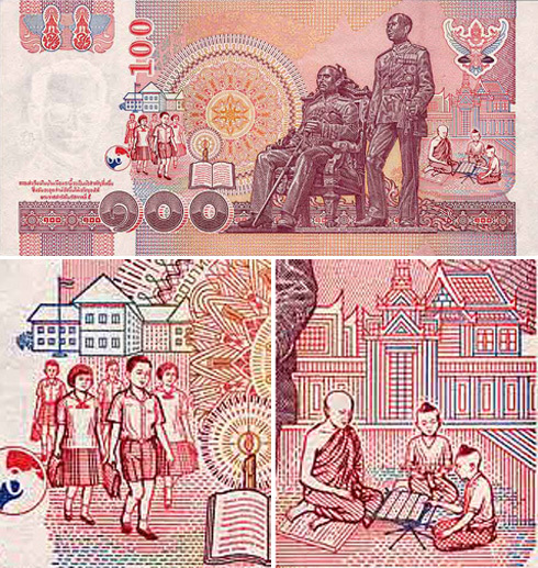 Thai 100-baht banknote