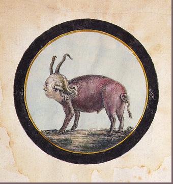 Engraving of King Louis XVI as a pig