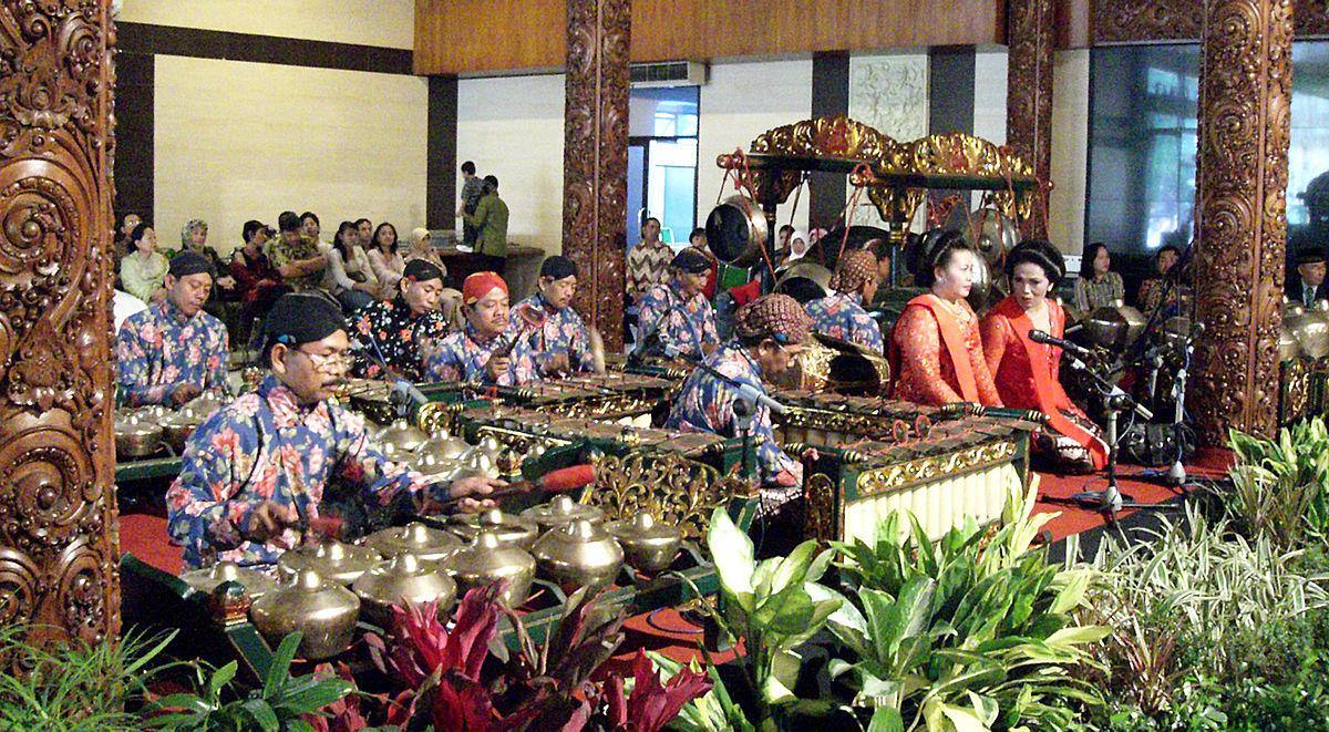 Javanese Gamelan Ensemble during a traditional Javanese Wedding Ceremony