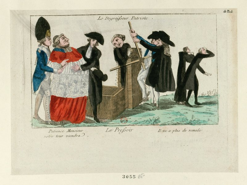 Print of cartoons attacking the clergy