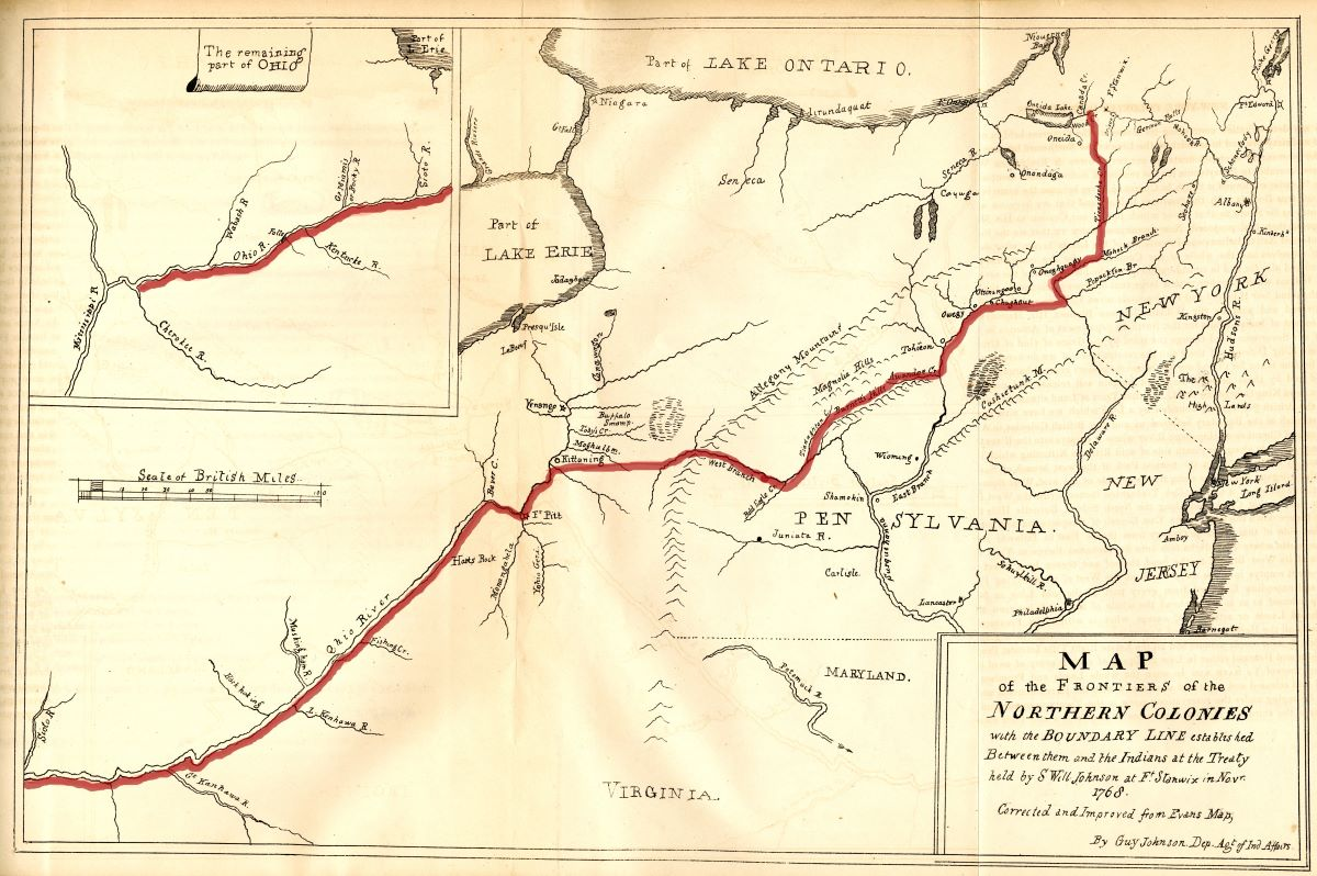Map of the Boundary Line Established at the Treaty of Fort Stanwix, 1768