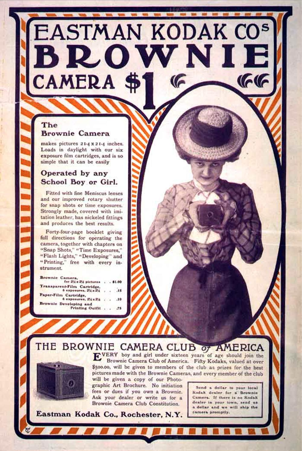 Early Eastman Kodak Advertisement from 1900