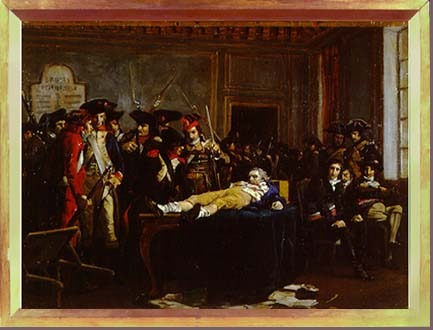 Painting depicting death of Robespierre