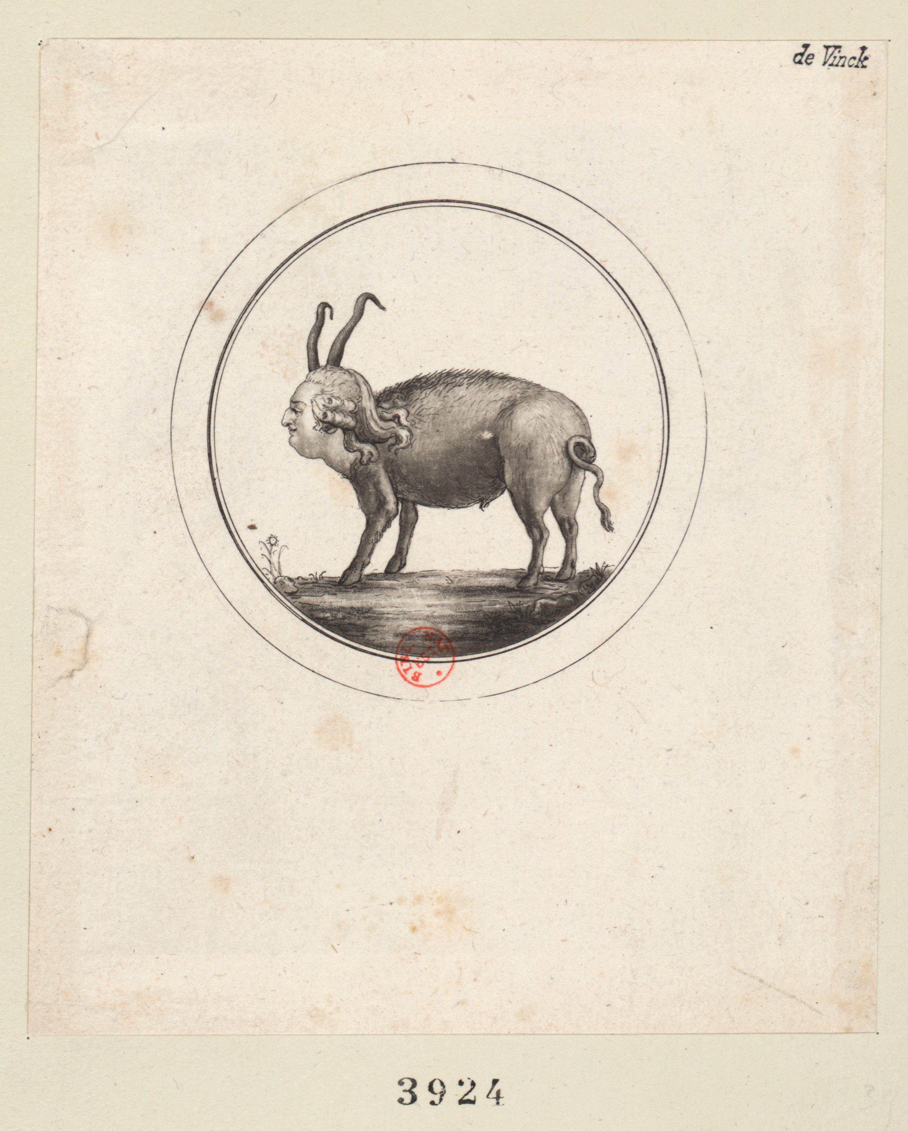 B&W engraving of King Louis XVI as a pig