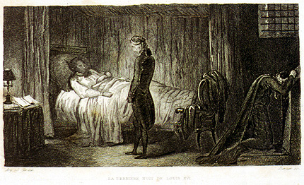 Image of King Louis XVI awaiting death in Temple prison