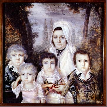 Painting of a mother and her children
