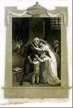 Image of King Louis XVI leaving his family before execution