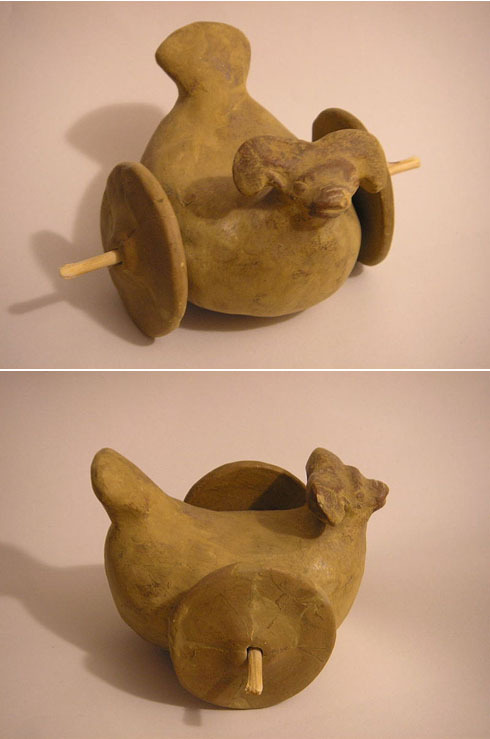 Photo of hand-modeled terracotta toy