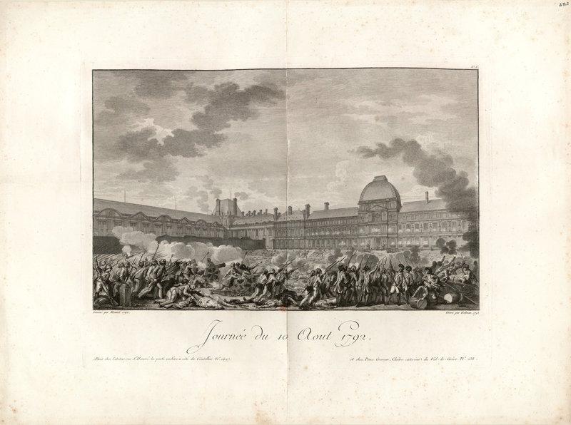 Engraving of riot uprising