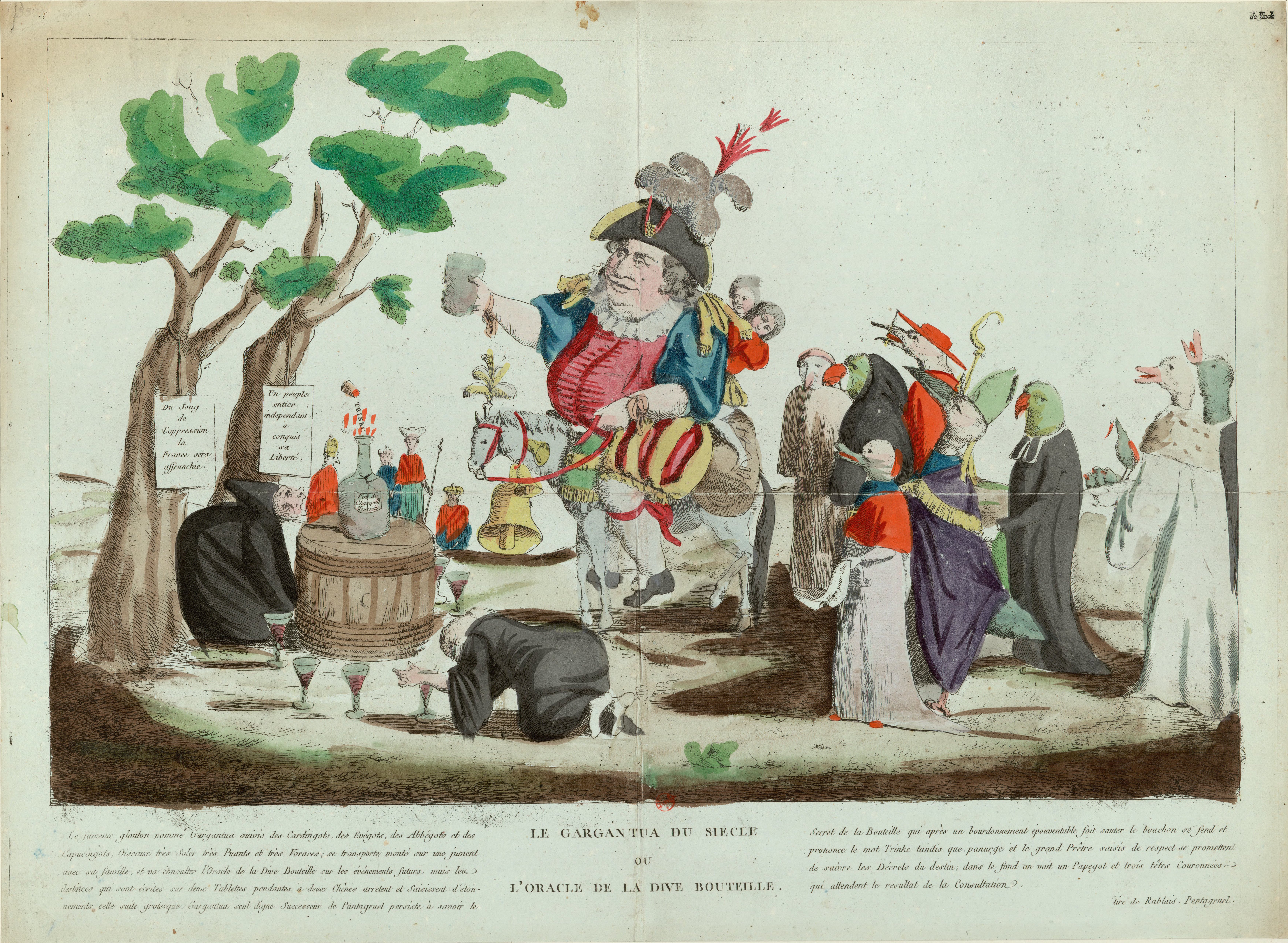 Engraving portraying King Louis XVI as a drunkard