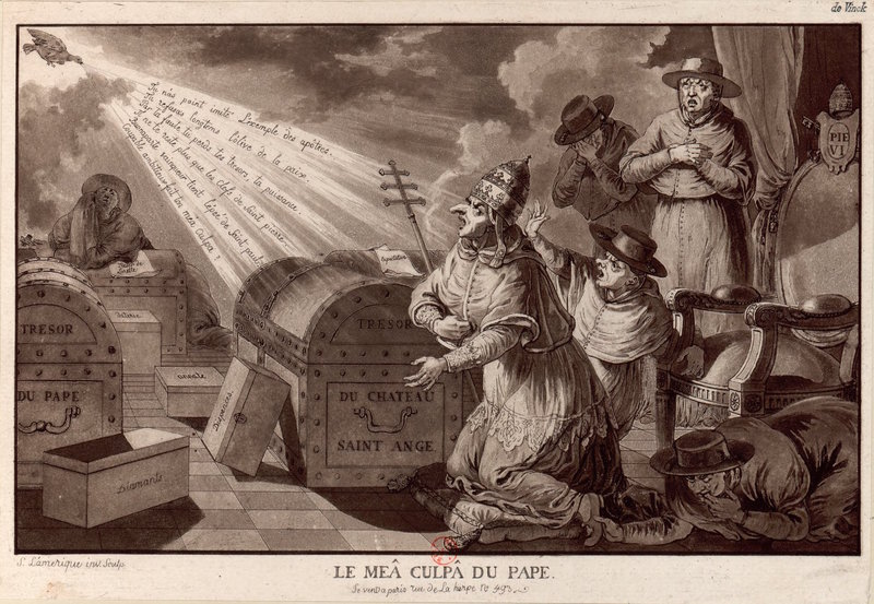 Print mocking the clergy and the Pope