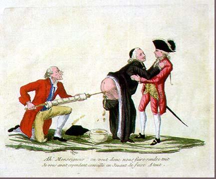 Cartoon mocking non-revolutionaries