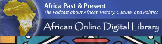 Website header for Africa Past & Present podcast showing its title