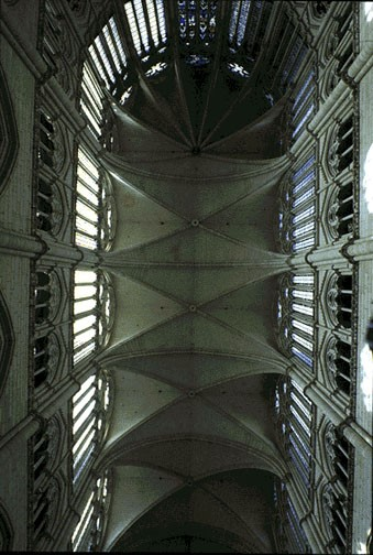 Photograph of the cathedral's ceiling