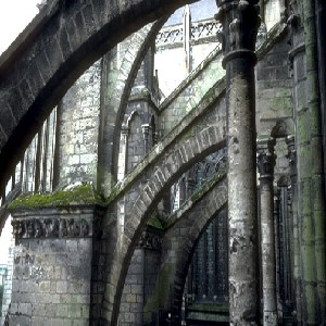 Photograph of nave flyers on the north side of the cathedral