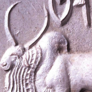 Close-up of the bull seal from the Indus Valley Civilization