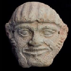 A Babylonian mask