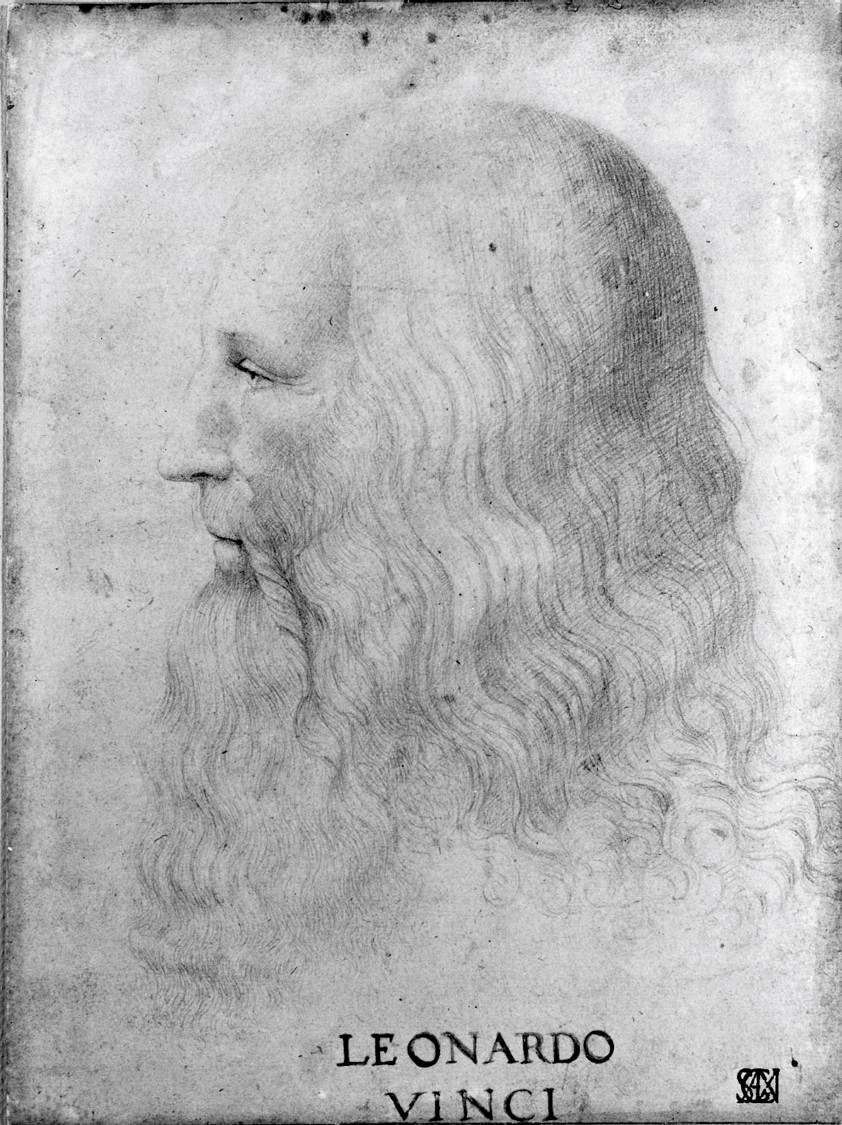 Profile Portrait of Leonardo da Vinci