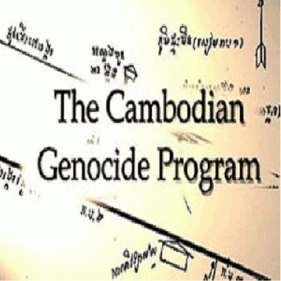 Image of text from the website reading The Cambodian Genocide Program