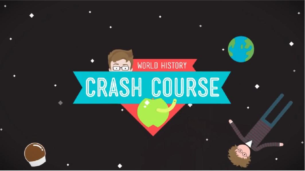 Crash Course World History title screen