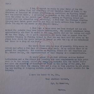 Image of typed emmerton letter