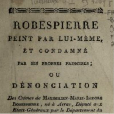Title page of a French pamphlet