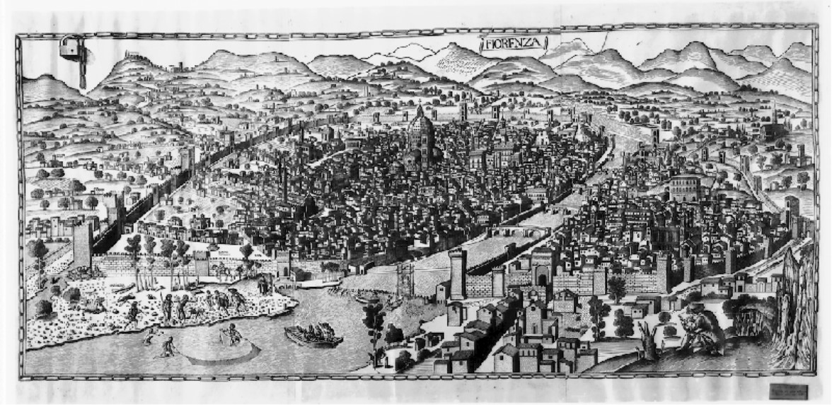 Map of Florence ca. 1471-82