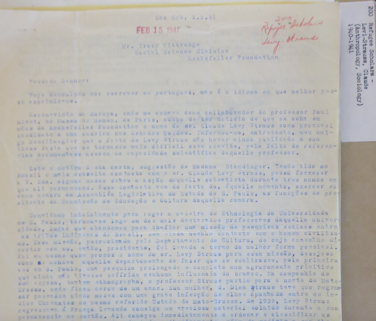 Image of mimeographed letter. Transcription below.