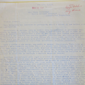 Image of mimeographed letter.