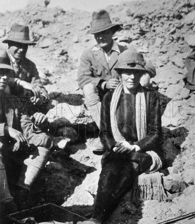 Gertrude Bell at an archaeological site
