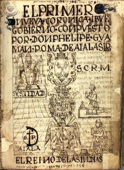 First page of Guaman Poma text