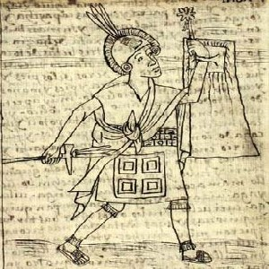 Image of an Incan man from page 98 of Guaman Poma