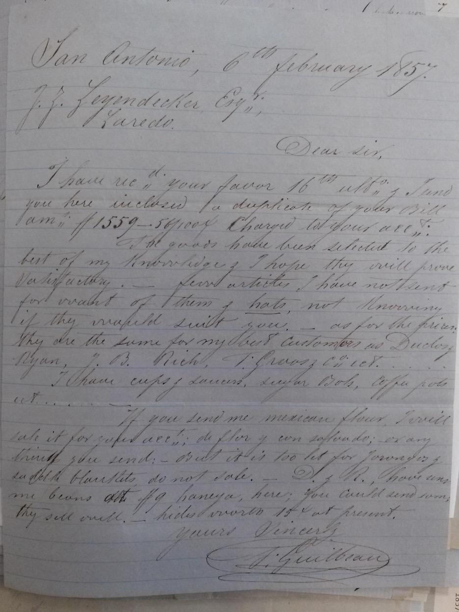 Image of a handwritten letter. Transcription below