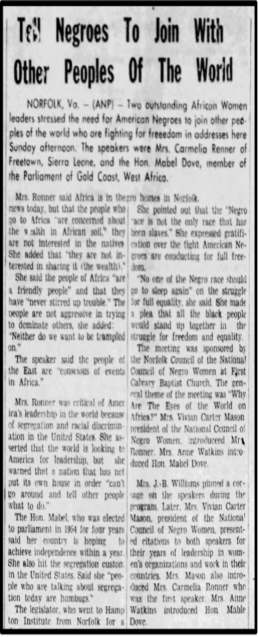 Image of the newspaper article. Description in annotation.