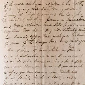 Image of one of the handwritten letters from the collection