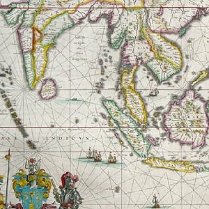 Detail of an early modern map of the Malay Peninsula