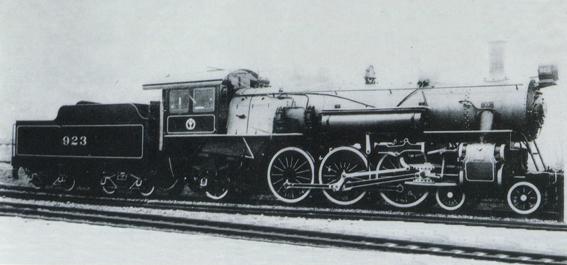 Photograph of steam locomotive