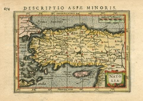 1500s map of Asia Minor