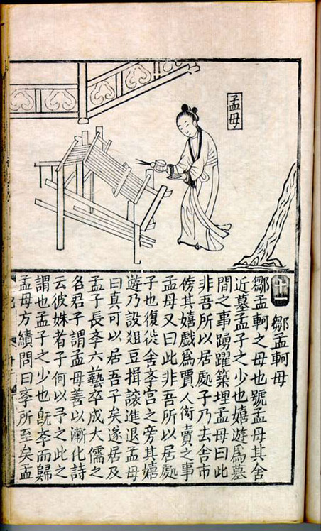 Mencius and his Mother: A Lesson Drawn from Weaving