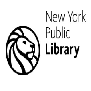 New York Public Library logo of a lion in a circle
