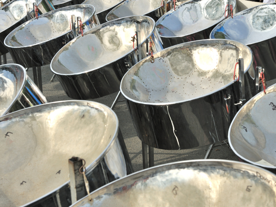 Steel pans used for Panorama competition