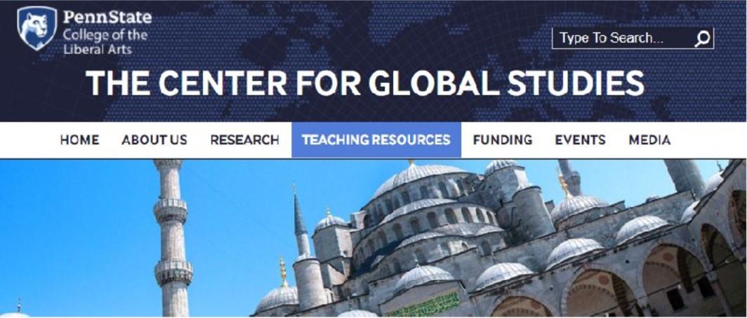 Global Studies at Penn State website homepage