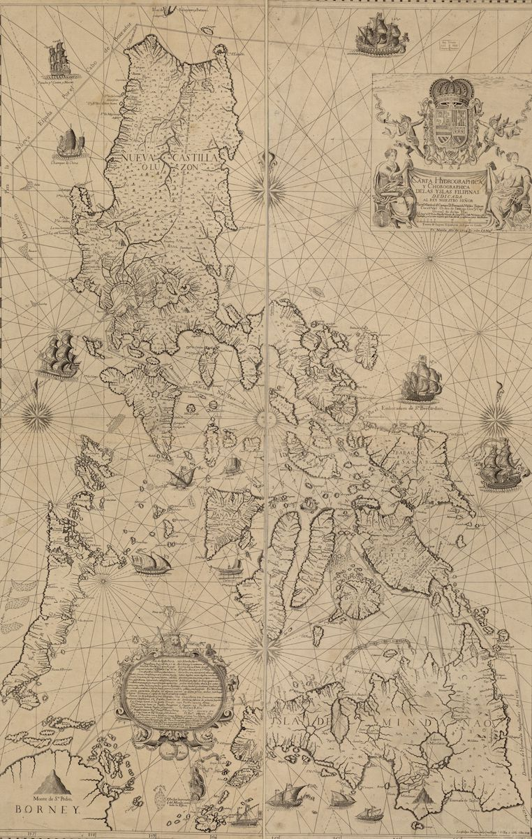 Drawn map of the Philippines