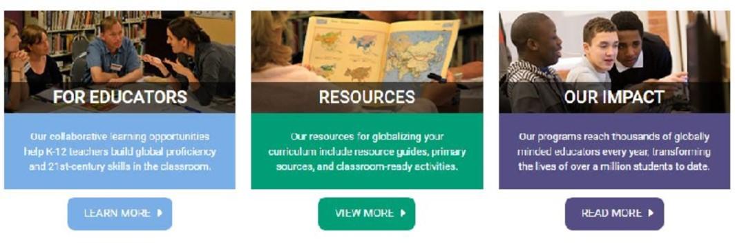 Screenshot of Primary Source website
