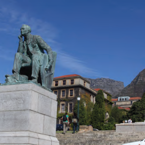 Cecil Rhodes monument, Cape Town University, South Africa