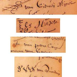 Signatures of Japanese soldiers executed at Amboyna