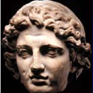 Sculpture of the head of Alexander the Great