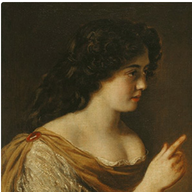 Portrait of one of the Mancini sisters