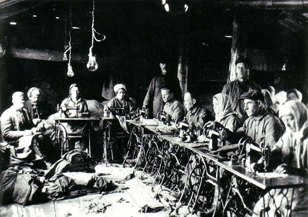 Photograph of Sewing Workshop at Belomorkanal Camp 1932
